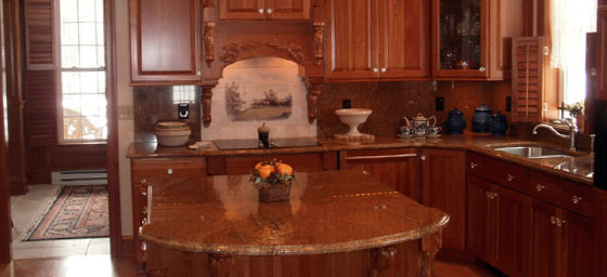 kitchen designed and built by Heritage Millworks